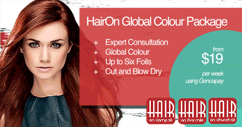 Hair On Queenstown Global Colour package available on Genoapay