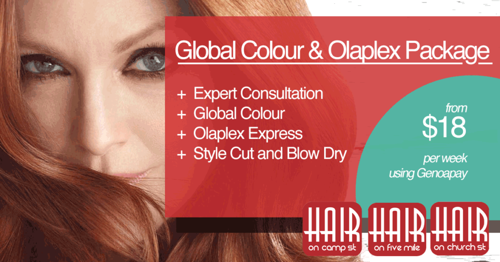 Hair On Queenstown Global Colour and Olaplex Package on Genoapay